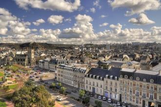 Cherbourg vu d'en haut